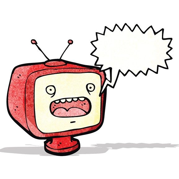 This TV puts me in the mood for a cheese plate. Doesn't he look cheesy? - BIGSTOCK