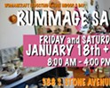 The January Rummage Sale!!