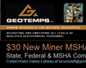 $30 New Miner MSHA Training