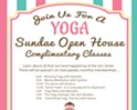 Yoga Sundae Open House at the Sol Center - Complimentary Classes and Happenings All Day