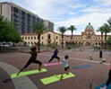 Free Yoga in the Park at Jacome Plaza