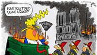 Claytoon of the Day: Notre Dame Fire