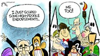 Claytoon of the Day: Feel The Endorsements