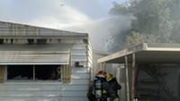 Trailer Fire on Tucson's Northwest Side
