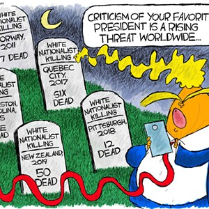 Claytoon of the Day: A Rising Threat