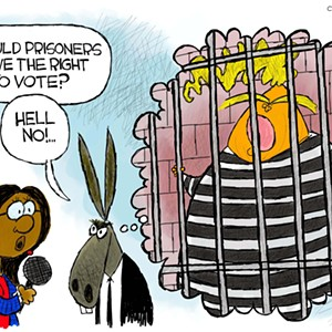Claytoon of the Day: Voting From The Hoosegow