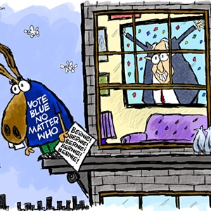 Claytoon of the Day: Vote Blue No Matter Except You Know Who