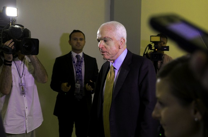 Sen. John McCain takes a stand for his believes on healthcare while taking on his own health battle.
