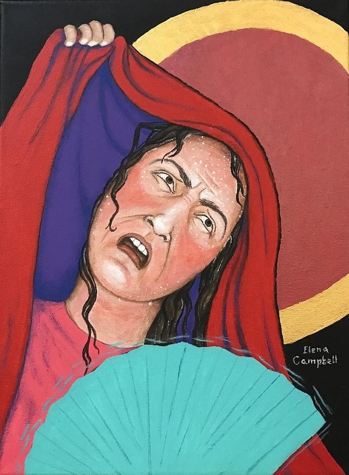 """La Bochornosa"" by Elena Campbell, acrylic on canvas."