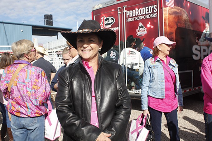"Kathy McFarlane: ""If you know anyone who knows cancer, who is gone through cancer, who is going through cancer, you just do it. Horses, my sport, my friends—that's what gave me the strength to come on back."""