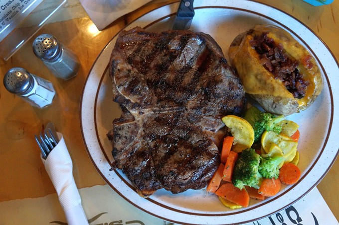 Indulge in some cowboy-quality fare.
