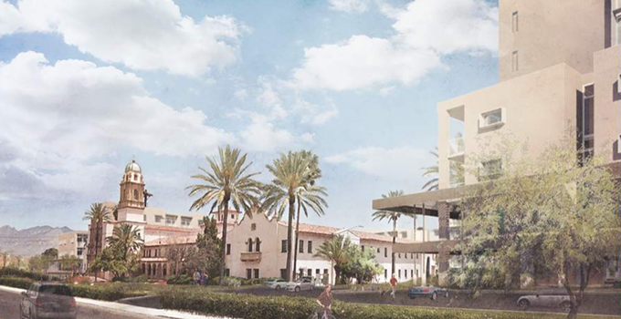 Artist rendering of midtown's Benedictine Monastery.
