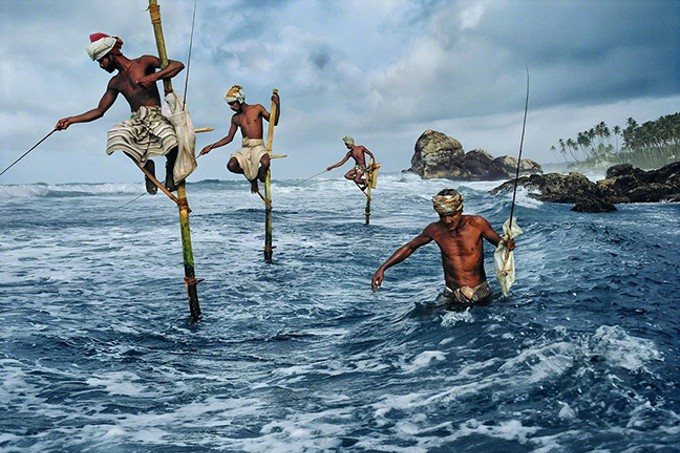 """Fisherman at Weligama,"" Sri Lanka, 1995,  by Steve McCurry, whose work will be on display at Etherton Gallery from Sept. 7 though Nov. 10."