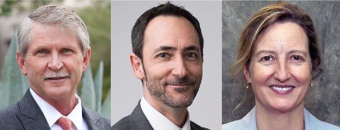 From left: Rep. Todd Clodfelter, Domingo DeGrazia and Rep. Kirsten Engel