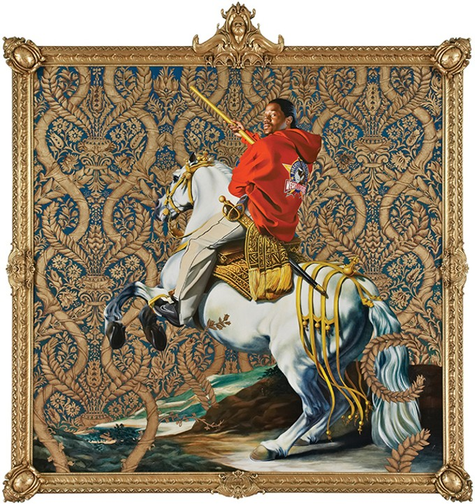 """Equestrian Portrait of the Count Duke Olivares,"" oil on canvas by Kenhide Wiley, 2005."