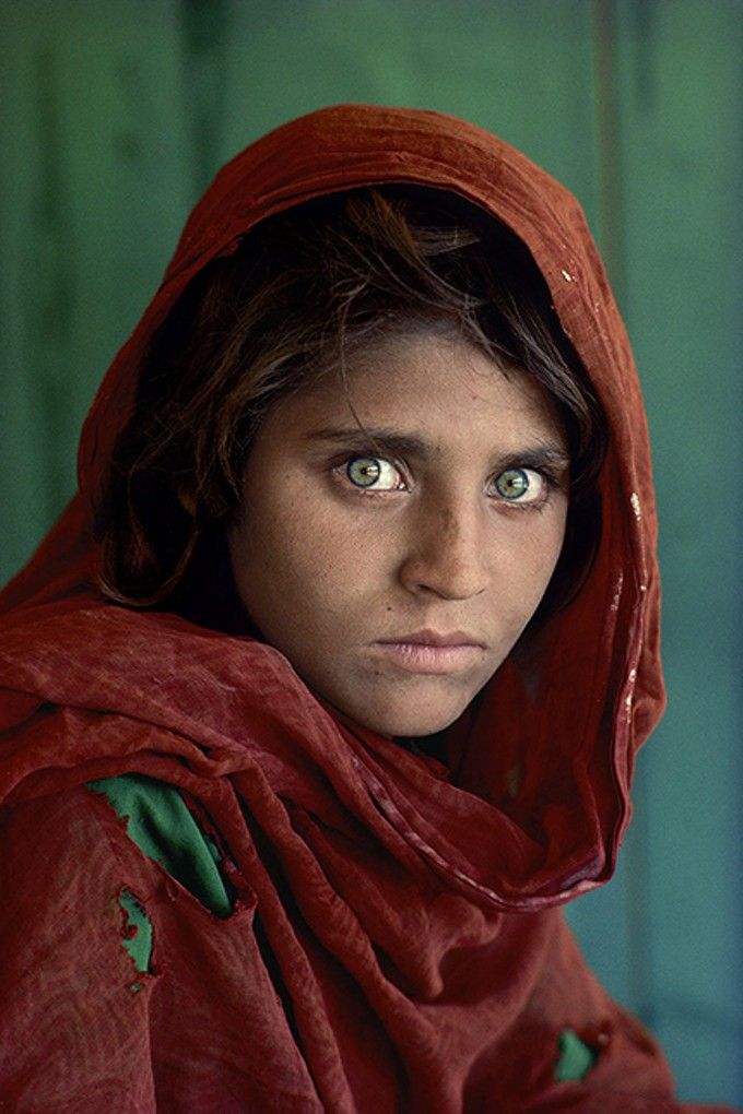 """Afghan Girl (Sharbat Gula), Peshawar, Pakistan,"" 1984, by Steve McCurry, Fuji Crystal Archive Print."
