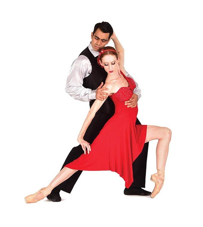 Jenna Johnson and Mauricio Vergara of Ballet Tucson in the music-and-dance concert Viva Piazzolla!