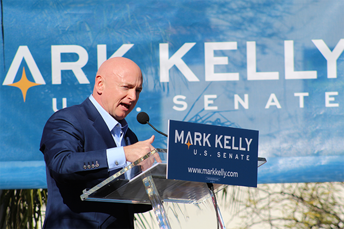 Mark Kelly held his first event as a candidate for U.S. Senate over the weekend at Hotel Congress.