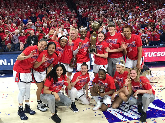 The Arizona Wildcats women's basketball team pulled in its first WNIT championship win since 1996.