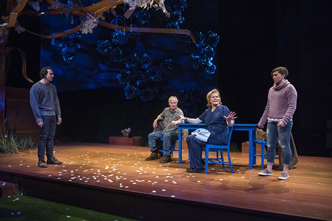 Kevin Kantor, Bill Geisslinger, Jordan Baker and Aubryn Heglie in ATC's Things I Know To Be True.