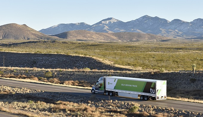 TuSimple's fleet of self-driving trucks is expected to reach 50 by June, and eventually 200.