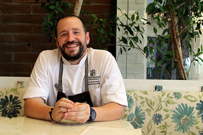 """Kyle Young: """"The concept of what Wildflower is helped mold me into the chef that I have become."""""""