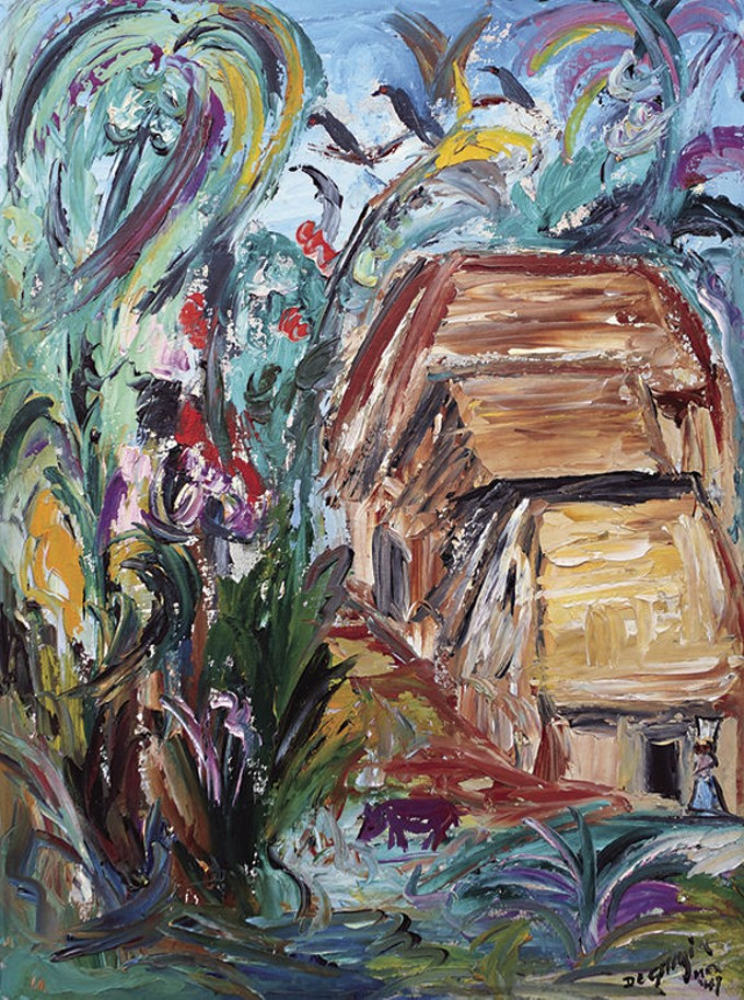 A painting from the 'DeGrazia Paints the Jungle' exhibit.