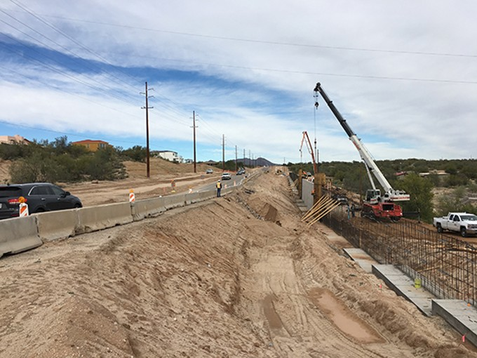The largest roadway project taking place in Oro Valley in 2020, the La Cholla widening, is expected to wrap up in September.