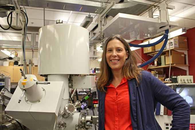 Erin Ratcliff, a professor of materials science and engineering, is leading a research project to develop wearable sweat sensors.