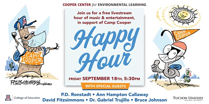 Join the fun!  An hour of entertainment in support of Camp Cooper!