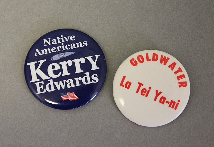 Campaign buttons, P2008.4.4 and P89.1.71