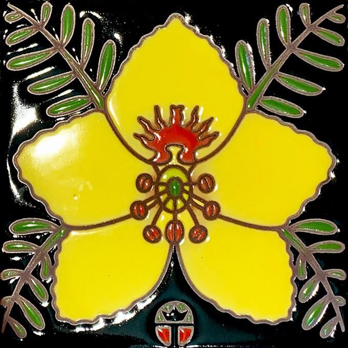 Ceramic Tile featuring Palo Verde Blossom