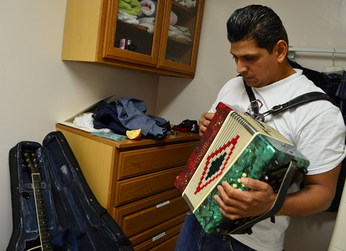 Neyoy-Ruiz plays the accordion, guitar, bass and piano.