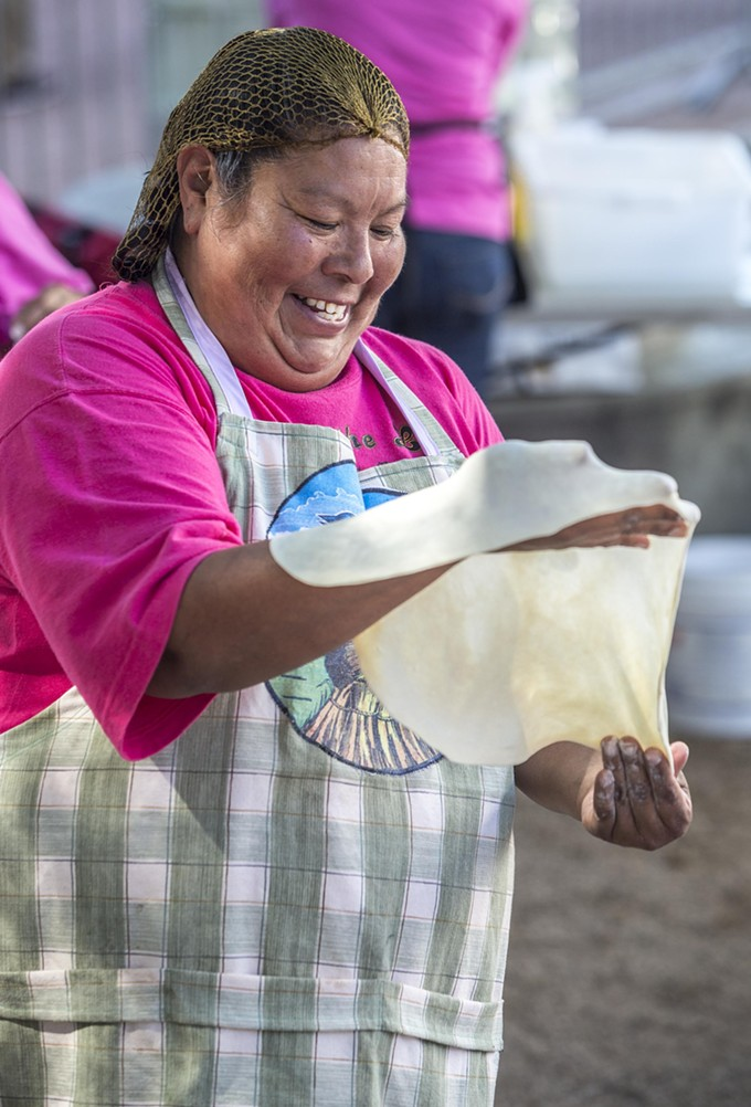 Making frybread at Tucson Meet Yourself