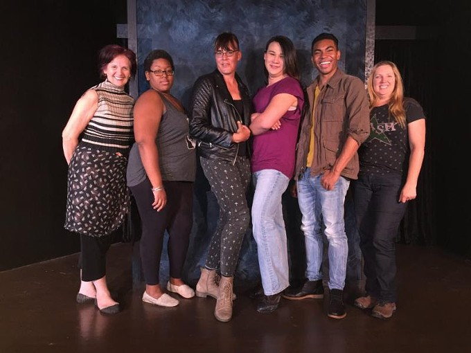 The cast of Invisible Theatre's Trans Scripts.
