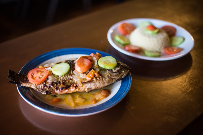 Grilled tilapia and couscous at Alafia transport you to the coast.