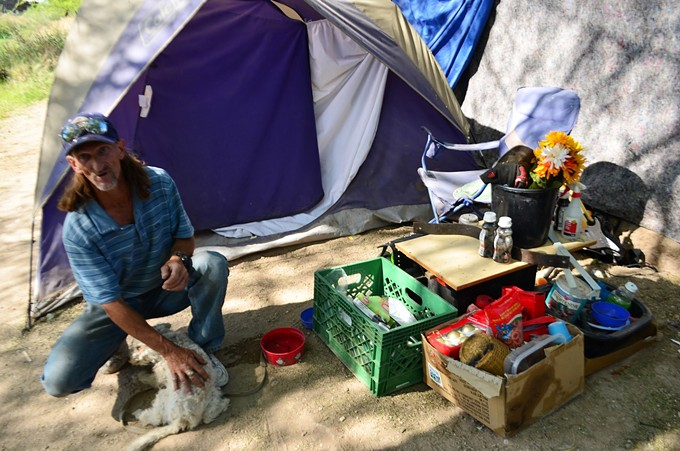 Former homeless resident of Estevan Park chose that location for his camping site because he got regular meals from the Soup Patrol.