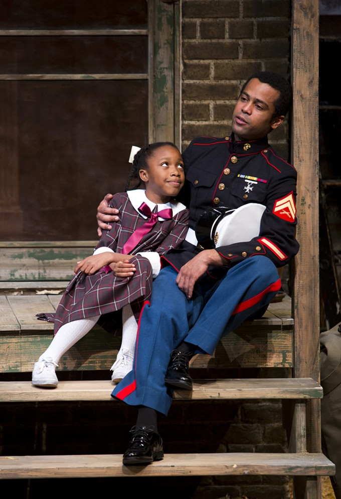 Simeeyah Grace Baker and Edgar Sanchez in Fences.