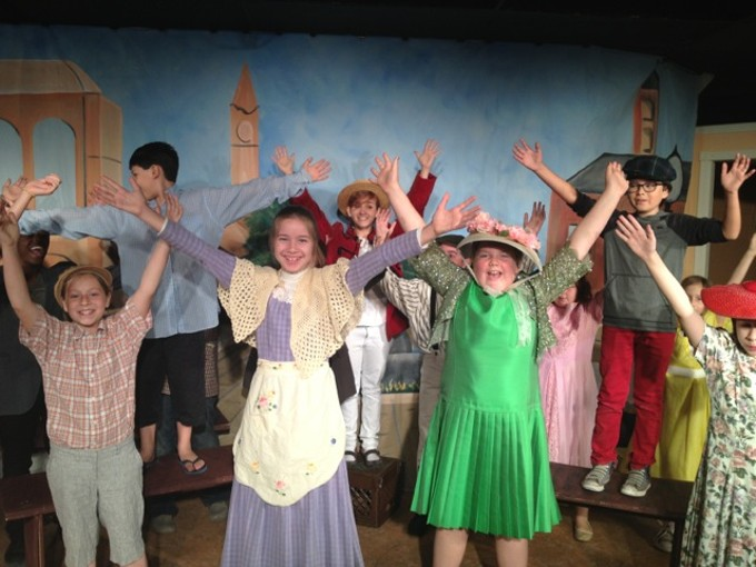 Kids perform The Music Man Jr. at LTW summer camps.