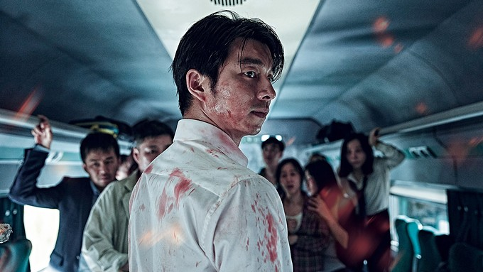 The disease spreads so fast there's something akin to a zombie-nado in the Train to Busan.