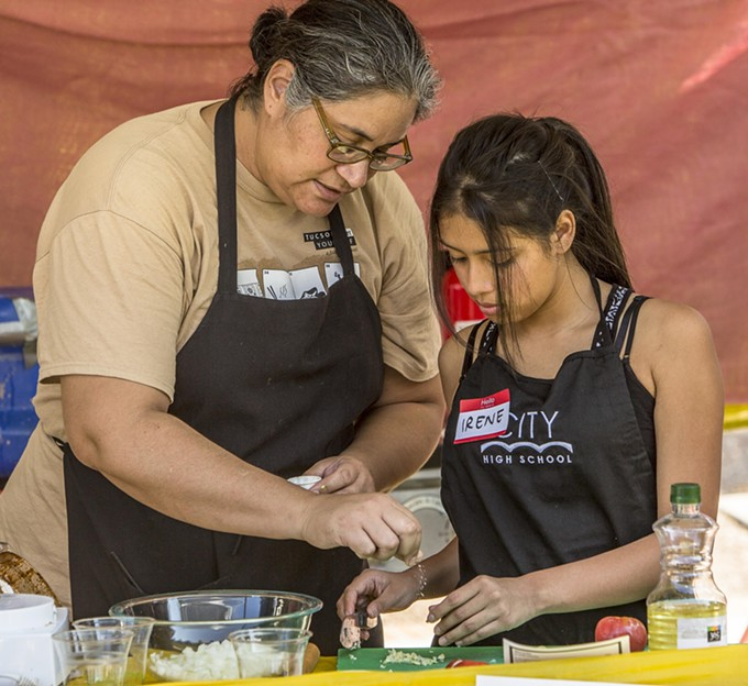 YWCA's Liane Hernandez curates this year's Tucson Meet Yourself Kitchen Stadium.