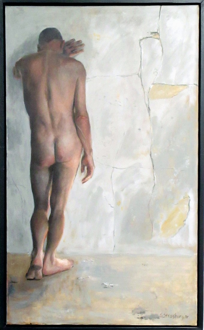 """""""Detention,"""" by George Strasburger, oil on canvas."""