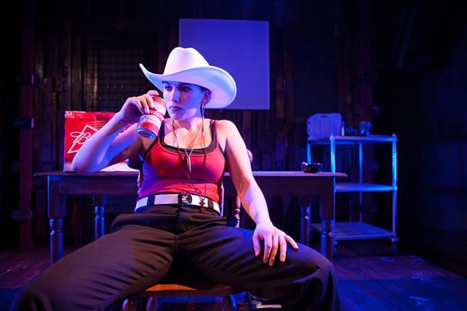 Lisandra Tena in Guera at Borderlands Theatre.