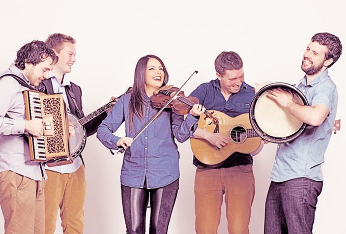 Accordionist Tadhg O Meachair and the rest of Goitse play Berger on Wednesday, March 8.