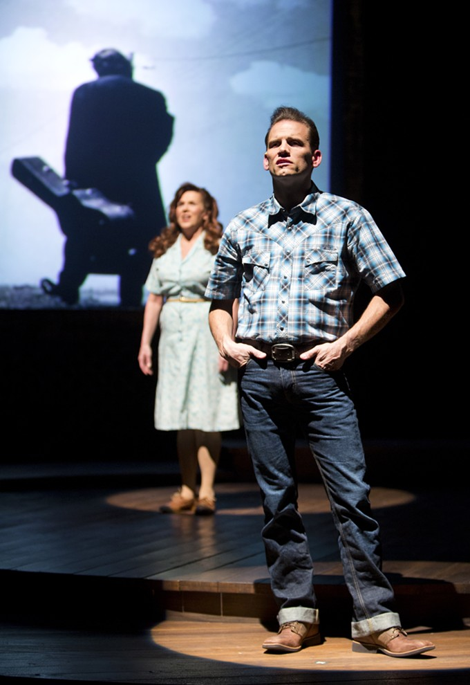 Allison Briner-Dardenne and Michael Monroe Goodman in Arizona Theatre Company's Ring of Fire.