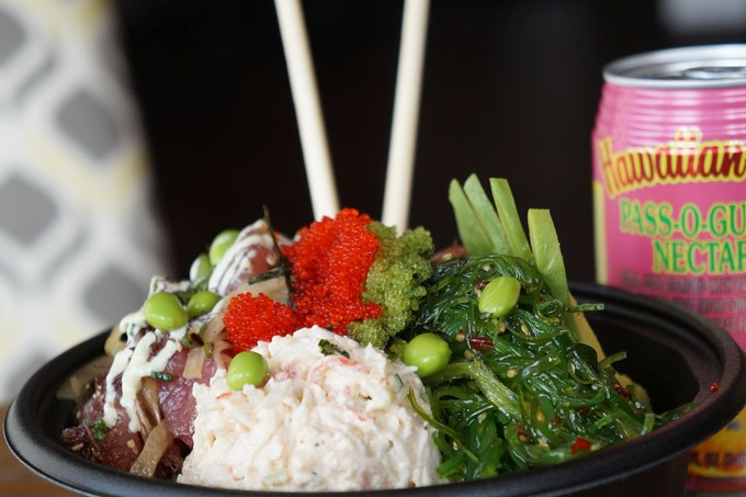 An Island Plate Lunch poke bowl
