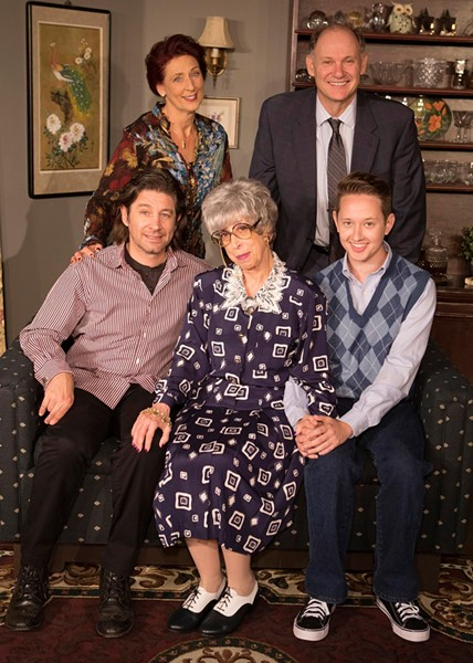 "The cast of Invisible Theatre's ""Prodigal Son"": Susan Cookie Baker, David Alexander Johnston, Christopher Koval, Susan Claassen and Andrey Lull"