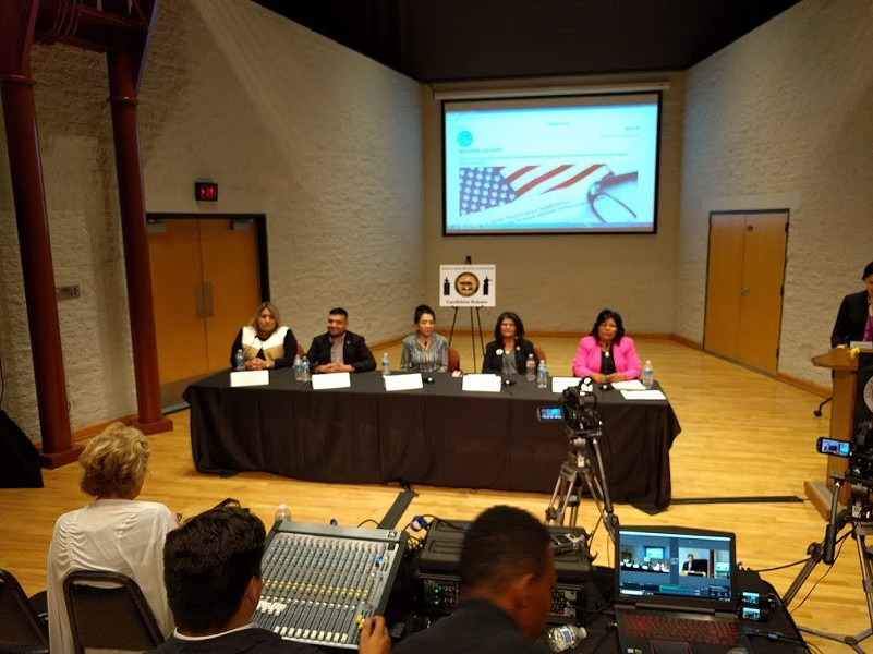 The LD-3 state congressional candidates debate Friday, July 20, at Pima Community College West campus. - DYLAN REYNOLDS