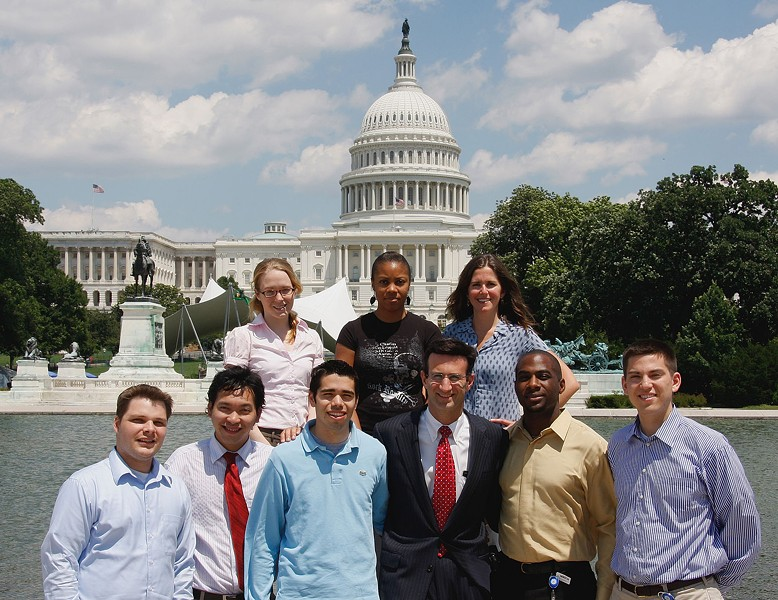 CONGRESSIONAL BUDGET OFFICE INTERNS WITH PETER ORSZAG, 2008, COURTESY OF WIKIMEDIA