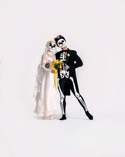 Elizabeth Egleson and Mauricio Vergara in Spirit Garden in Ballet Tucson's season opener. - ED FLORES